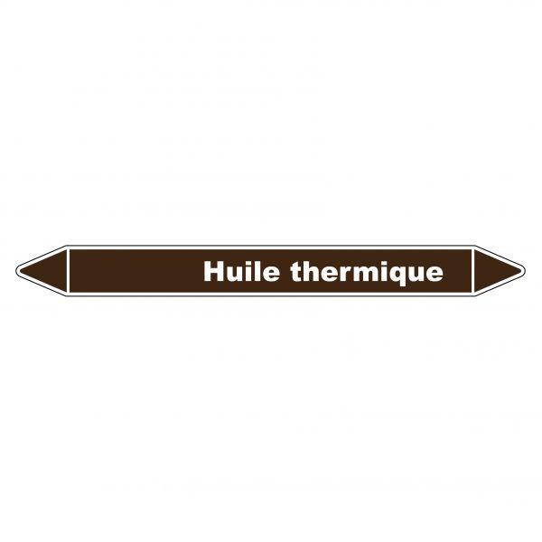 Marqueur de Tuyauterie Huile thermique 150 x 12 mm Vinyle Laminé