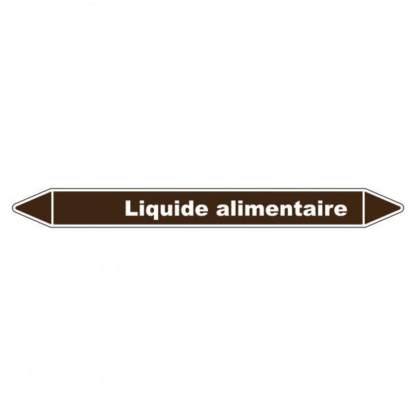 Marqueur de Tuyauterie Liquide alimentaire 150 x 12 mm Vinyle Laminé