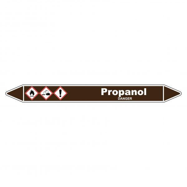 Marqueur de Tuyauterie Propanol 150 x 12 mm Vinyle Laminé