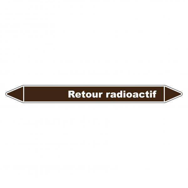 Marqueur de Tuyauterie Retour radioactif 150 x 12 mm Vinyle Laminé
