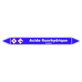 Marqueur de Tuyauterie Acide fluorhydrique 150 x 12 mm Vinyle Laminé
