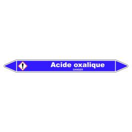 Marqueur de Tuyauterie Acide oxalique 150 x 12 mm Vinyle Laminé
