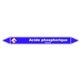 Marqueur de Tuyauterie Acide phosphorique 150 x 12 mm Vinyle Laminé