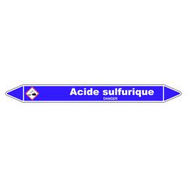 Marqueur de Tuyauterie Acide sulfurique 150 x 12 mm Vinyle Laminé