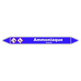 Marqueur de Tuyauterie Ammoniaque 150 x 12 mm Vinyle Laminé