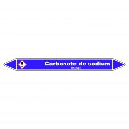 Marqueur de Tuyauterie Carbonate de sodium 150 x 12 mm Vinyle Laminé