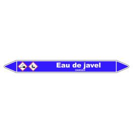 Marqueur de Tuyauterie Eau de javel 150 x 12 mm Vinyle Laminé
