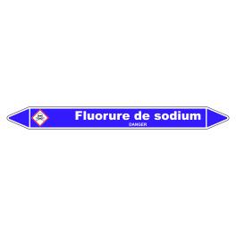 Marqueur de Tuyauterie Fluorure de sodium 150 x 12 mm Vinyle Laminé