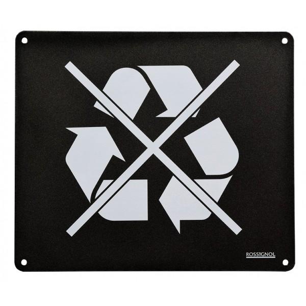 Plaque pour poubelle Trapi - Bleu