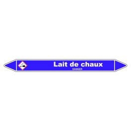 Marqueur de Tuyauterie Lait de chaux 150 x 12 mm Vinyle Laminé