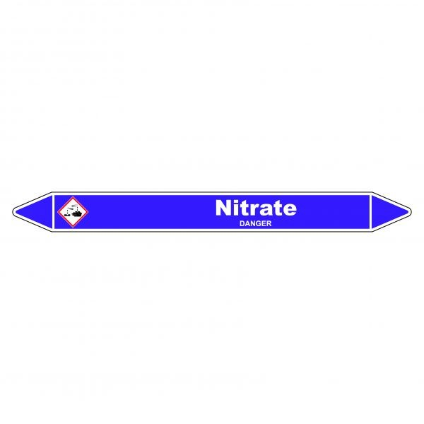 Marqueur de Tuyauterie Nitrate 150 x 12 mm Vinyle Laminé