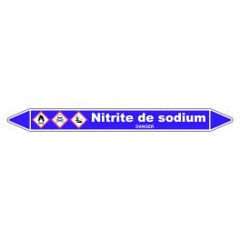 Marqueur de Tuyauterie Nitrite de sodium 150 x 12 mm Vinyle Laminé