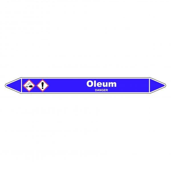 Marqueur de Tuyauterie Oleum 150 x 12 mm Vinyle Laminé