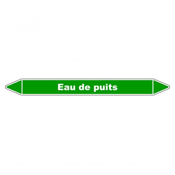 """Marqueur de Tuyauterie """"Eau de puits"""" en Vinyle Laminé"""
