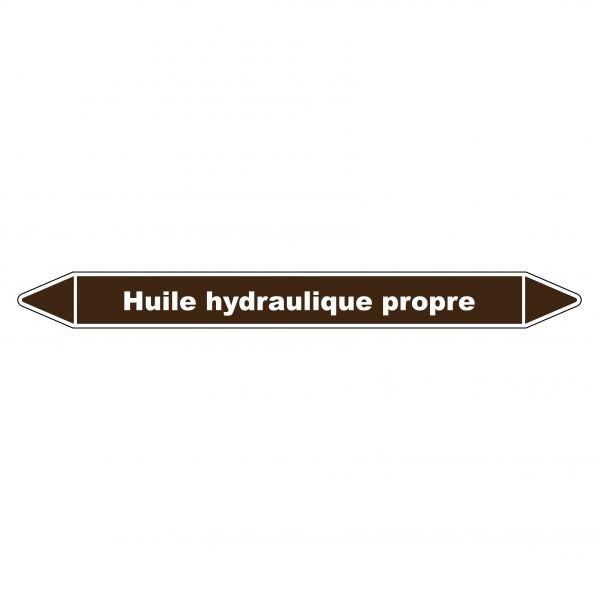 "Marqueur de Tuyauterie ""Huile hydraulique propre"" en Vinyle Laminé"
