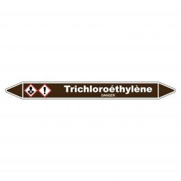 """Marqueur de Tuyauterie """"Trichloroéthylène"""" en Vinyle Laminé"""
