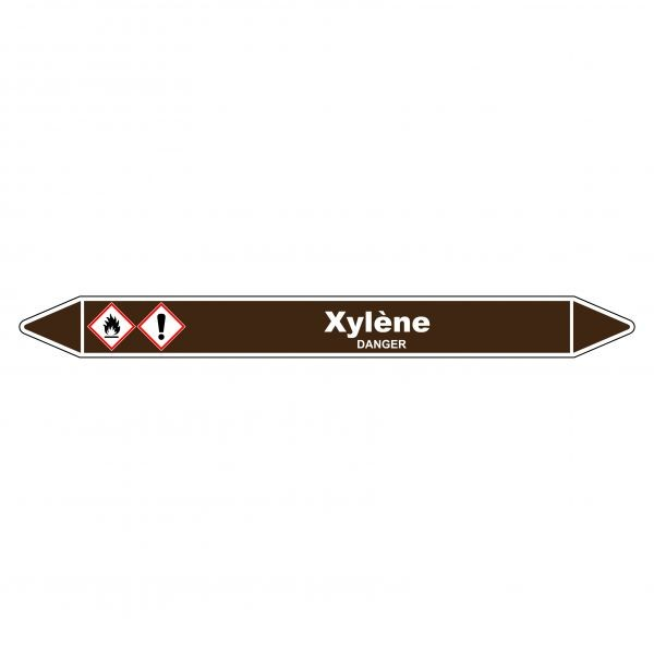 """Marqueur de Tuyauterie """"Xylène"""" en Vinyle Laminé"""