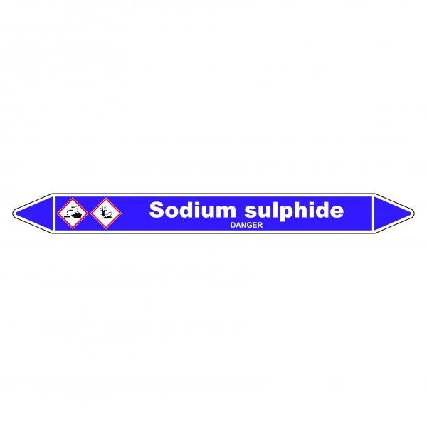 """Marqueur de Tuyauterie """"Sodium Sulphide"""" en Vinyle Laminé"""