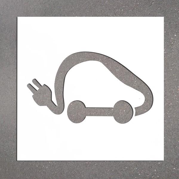 """Pochoir PVC """"Voiture électrique"""" 350 x 600 mm"""