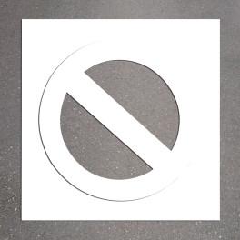 "Pochoir PVC ""Stationnement interdit"" 800 x 800 mm"