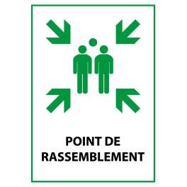 """Panneau de Premiers Secours ISO 7010 """"Point de Rassemblement"""" E007 - Vinyle - A5"""