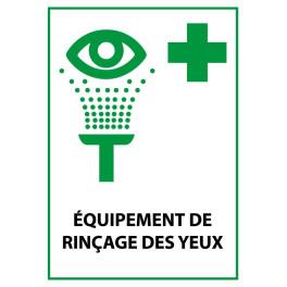 """Panneau de Premiers Secours ISO 7010 """"Équipement de rinçage des yeux"""" E011 - Vinyle - A5"""