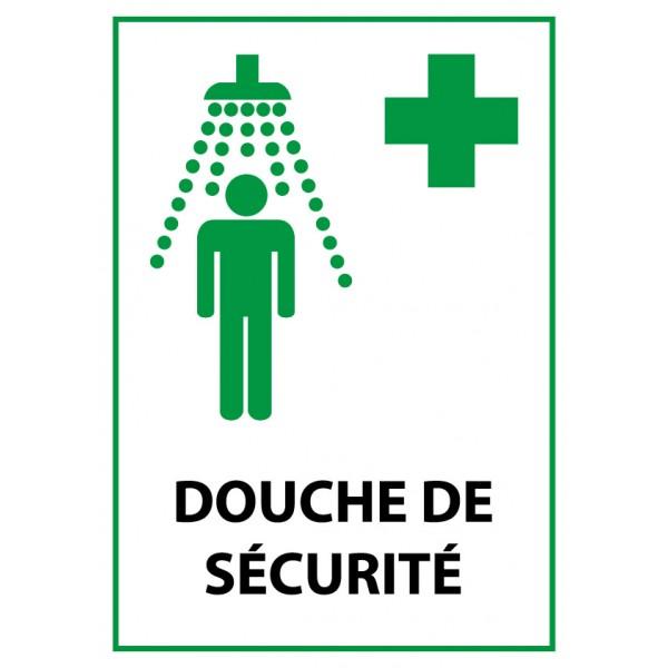 """Panneau de Premiers Secours ISO 7010 """"Douche de Sécurité"""" E012 - Vinyle - A5"""