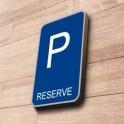 """Panneau de Parking """"RÉSERVÉ"""""""