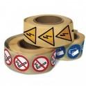 """Rouleau de Pictogrammes d'Interdiction """"Interdiction de fumer et vapoter"""""""