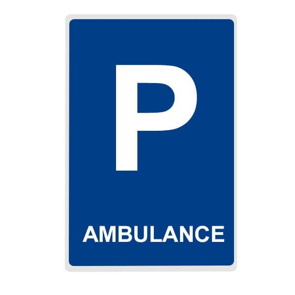 "Panneau de Parking ""AMBULANCE"""