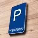 """Panneau de Parking """"VISITEURS"""""""