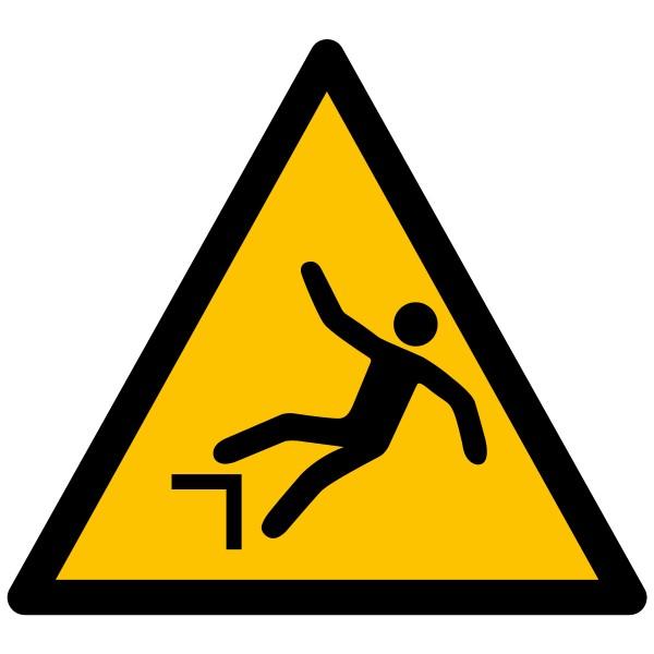 """Pictogramme de Danger ISO 7010 """"Chute avec dénivellation"""" W008"""