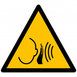 "Pictogramme de Danger ISO 7010 ""Bruit fort soudain"" W038"