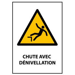 """Panneau ISO 7010 """"Chute avec dénivellation"""" W008"""