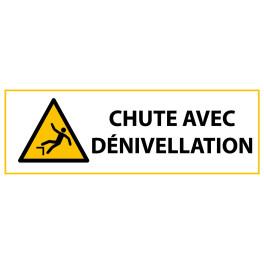 """Panneau de Danger ISO 7010 """"Chute avec dénivellation"""" W008"""