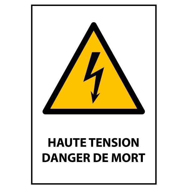 """Panneau ISO 7010 """"Haute tension Danger de mort"""" W012"""