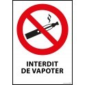 "Panneau ""Interdiction de vapoter"""