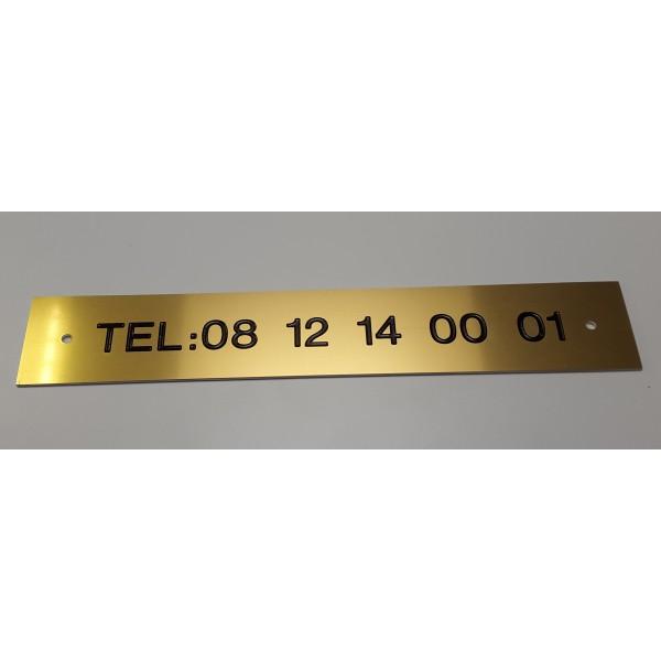 Plaque signalétique gravée sur mesure en Metallex