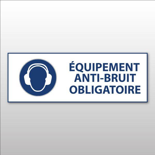 """Panneau d'obligation ISO EN 7010 """"Equipement anti-bruit obligatoire"""" M003"""