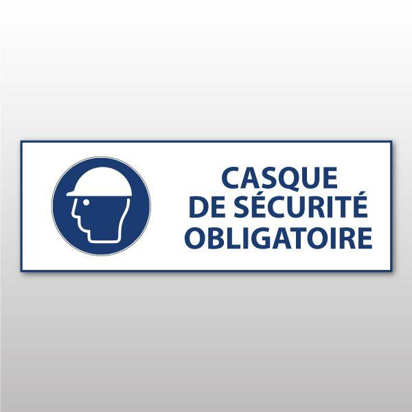 """Panneau d'obligation ISO EN 7010 """"Casque de sécurité obligatoire"""" M014"""