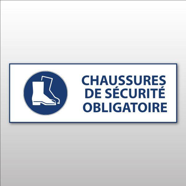 """Panneau d'obligation ISO EN 7010 """"Chaussures de sécurité obligatoires"""" M008"""