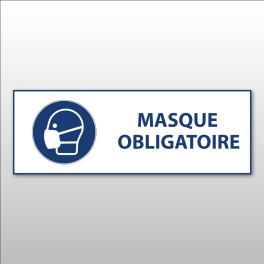 """Panneau d'obligation ISO EN 7010 """"Masque obligatoire"""" M016"""