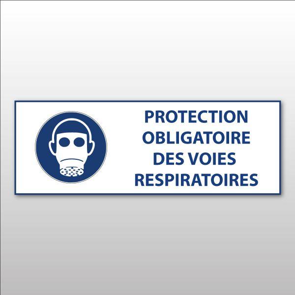 """Panneau d'obligation ISO EN 7010 """"Protection des voies respiratoires obligatoire """" M017"""