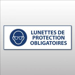 """Panneau d'obligation ISO EN 7010 """"Lunettes de protection obligatoires"""" M004"""