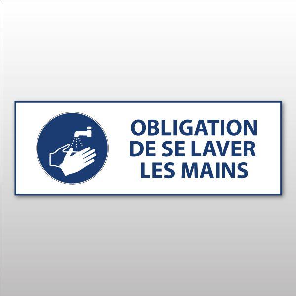 """Panneau d'obligation ISO EN 7010 """"Obligation de se laver les mains"""" M011"""