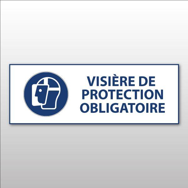 """Panneau d'obligation ISO EN 7010 """"Visière de protection obligatoire"""" M013"""