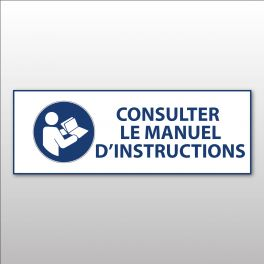 "Panneau d'obligation ISO EN 7010 ""Consulter le manuel/la notice d'instructions"" M002"