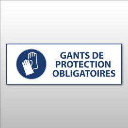 """Panneau d'obligation ISO EN 7010 """"Gants de protection obligatoires"""" M009"""