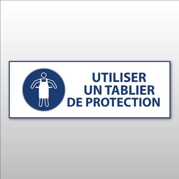 """Panneau d'obligation ISO EN 7010 """"Utiliser un tablier de protection"""" M026"""