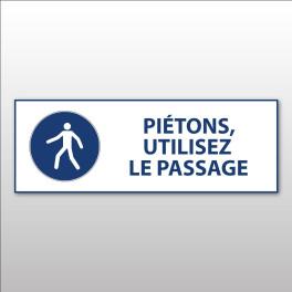 """Panneau d'obligation ISO EN 7010 """"Piétons, utilisez le passage"""" M024"""